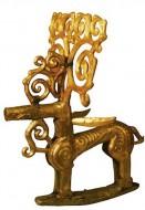 Золотой олень с ветвистыми рогами